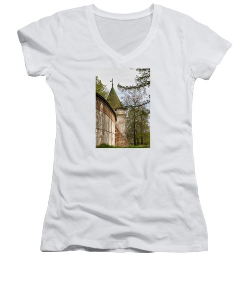 Wall And Tower Women's V-Neck