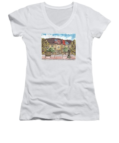 Warhorse Headquarters Women's V-Neck (Athletic Fit)