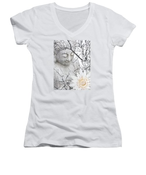 Warm Winter's Moment Women's V-Neck T-Shirt