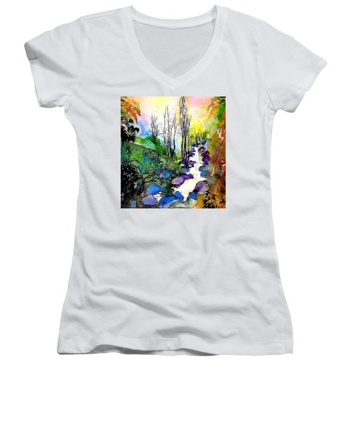 Water And Air Women's V-Neck T-Shirt