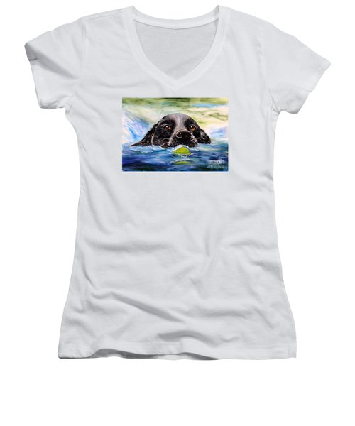 Water Dog Women's V-Neck T-Shirt