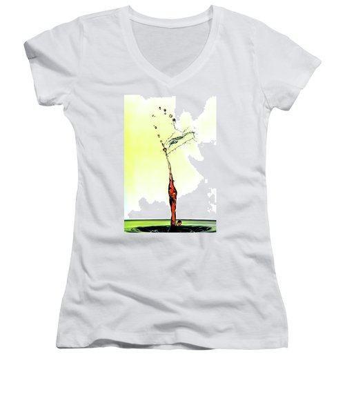 Water Drop #6 Women's V-Neck (Athletic Fit)