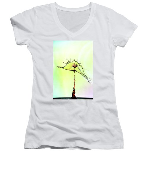 Water Drop #7 Women's V-Neck (Athletic Fit)