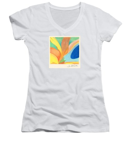 Water Grass Blue Pond Women's V-Neck