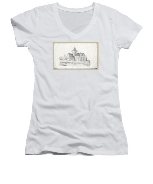 Water Inlet At Church Women's V-Neck