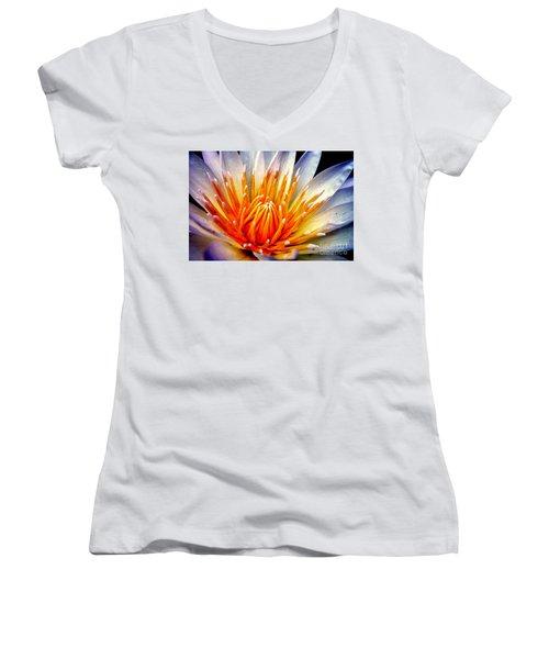 Water Lily Flower Women's V-Neck