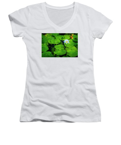 Women's V-Neck T-Shirt (Junior Cut) featuring the photograph Water Logged by Ryan Manuel