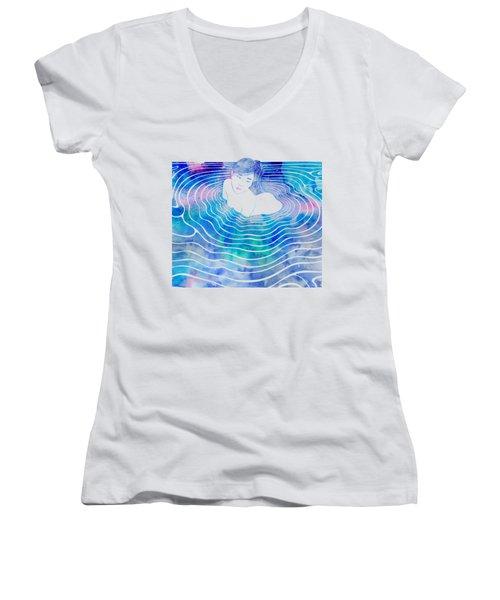 Water Nymph Lxxxix Women's V-Neck T-Shirt