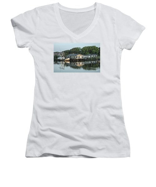 Water Reflection  Women's V-Neck (Athletic Fit)