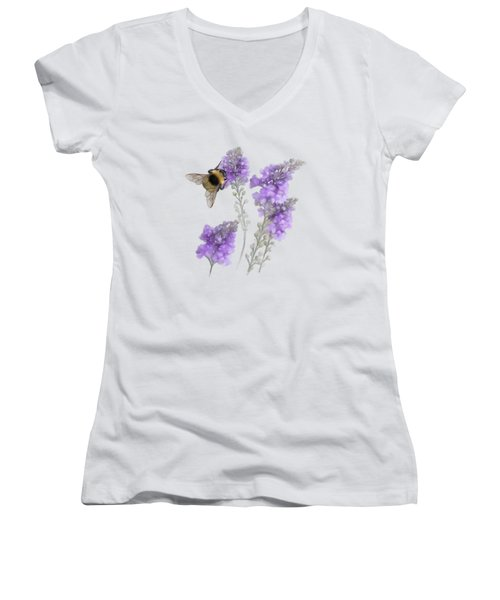 Watercolor Bumble Bee Women's V-Neck