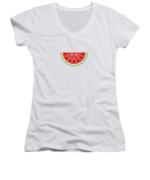 Watermelon Ornament Women's V-Neck T-Shirt