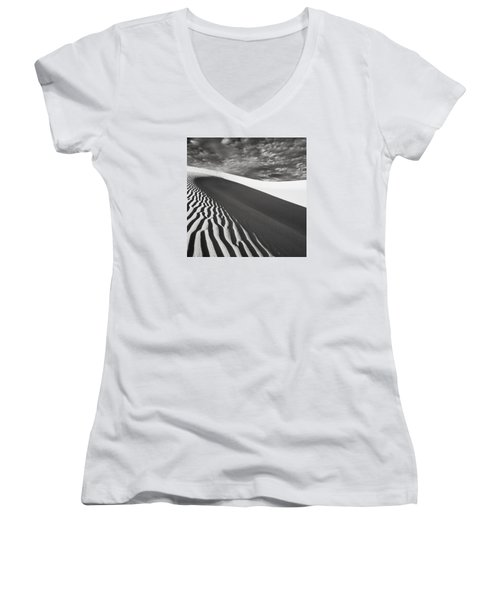 Wave Theory Vii Women's V-Neck T-Shirt (Junior Cut) by Ryan Weddle