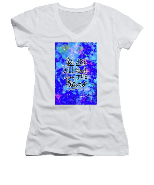 We Are All Made From The Stars Women's V-Neck