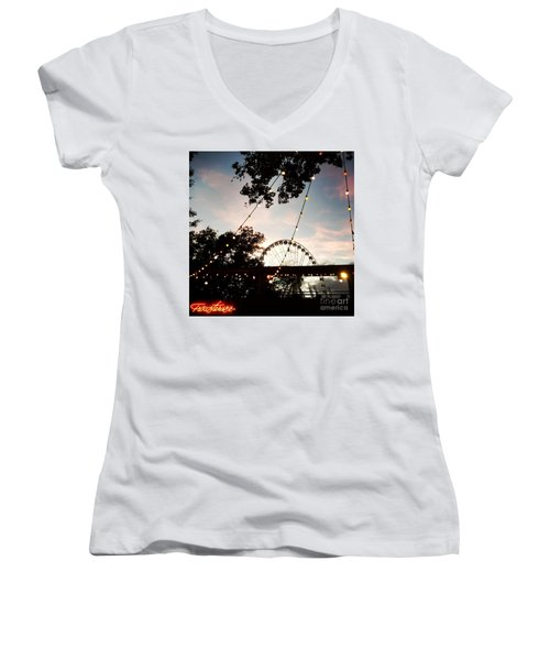 We Live In Budapest #7 Women's V-Neck