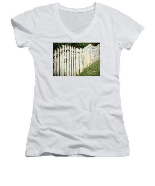 Weathered Fence Women's V-Neck