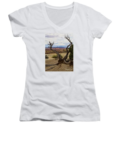 Weathered Women's V-Neck (Athletic Fit)