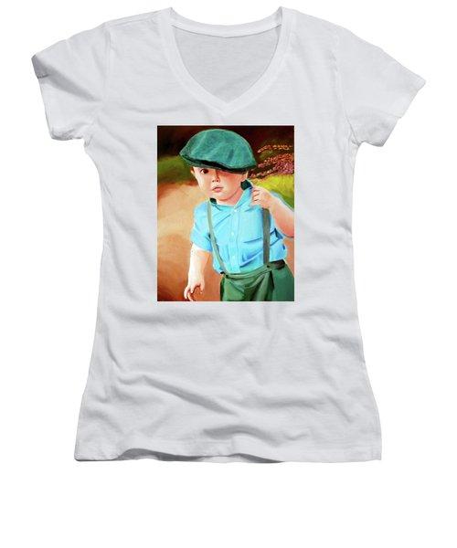 Wee Laddie  Women's V-Neck T-Shirt