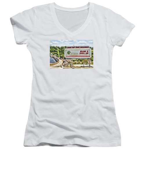 Welcome To Bagnell Dam Women's V-Neck