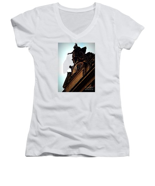 Welcome To Grand Central Women's V-Neck T-Shirt