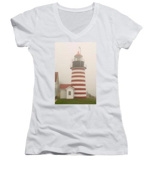 West Quody Head Lighthouse Women's V-Neck