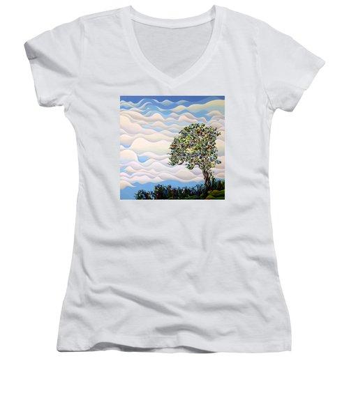 Westward Yearning Tree Women's V-Neck