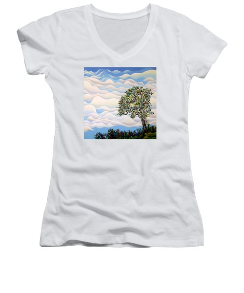 Westward Yearning Tree Women's V-Neck (Athletic Fit)