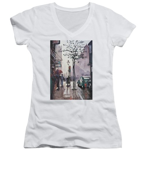 Wet Afternoon Women's V-Neck (Athletic Fit)