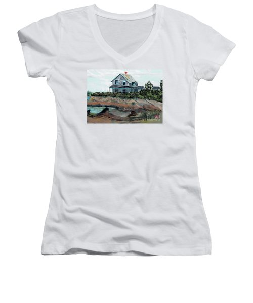 Whales Of August House Women's V-Neck T-Shirt