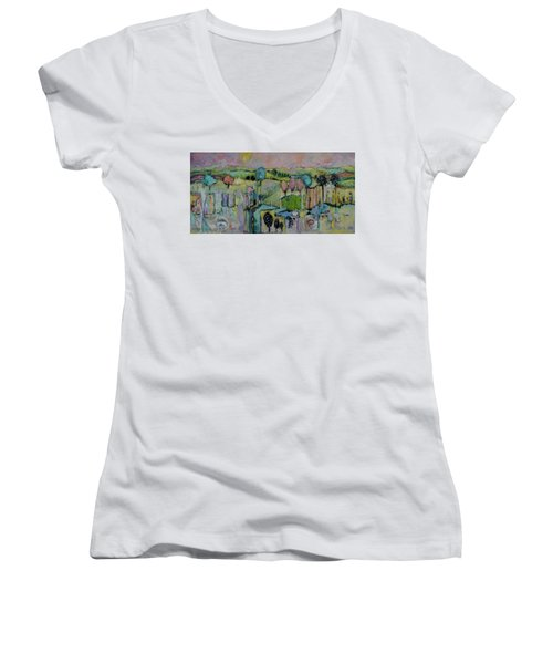 What A Bird Sees Women's V-Neck (Athletic Fit)