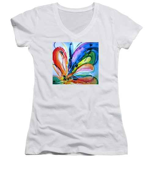 What A Fly Dreams Women's V-Neck T-Shirt