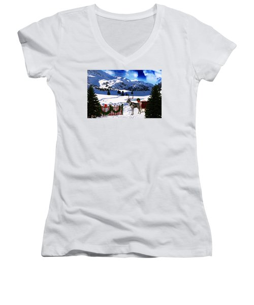 What A Wonderful Time Women's V-Neck (Athletic Fit)