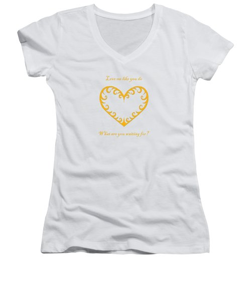 What Are You Waiting For? Women's V-Neck T-Shirt