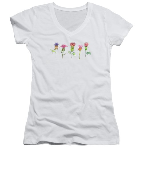 What Is It About A Thistle Fl006 Women's V-Neck