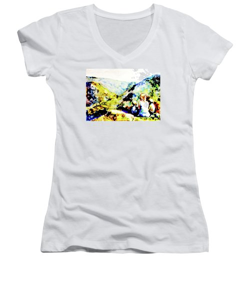 What Lies Ahead Women's V-Neck (Athletic Fit)