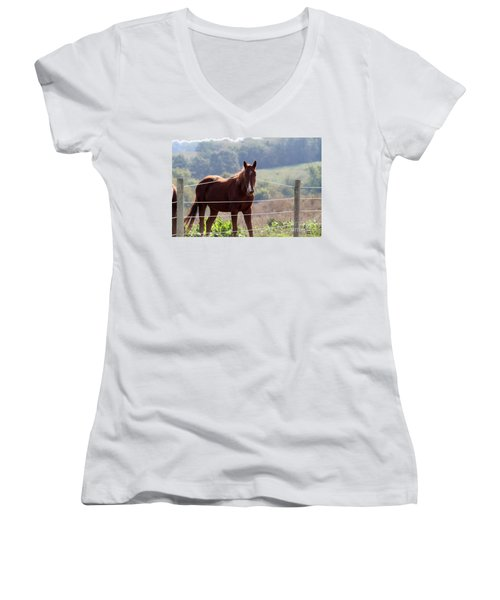 What? Women's V-Neck (Athletic Fit)