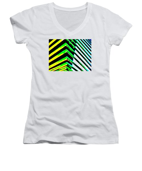 Whats Your Angle Women's V-Neck T-Shirt (Junior Cut) by Tim Townsend