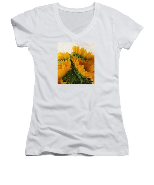 When The Autumn And Winter Meet By Jasna Gopic Women's V-Neck T-Shirt