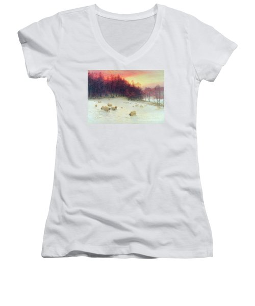 When The West With Evening Glows Women's V-Neck (Athletic Fit)