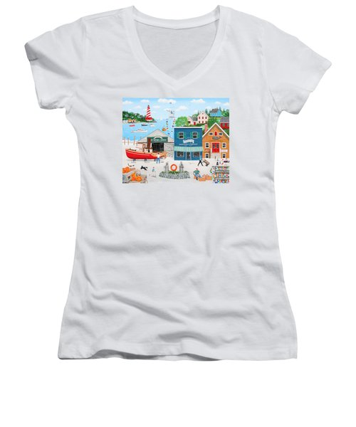 Where The Buoys Are Women's V-Neck (Athletic Fit)