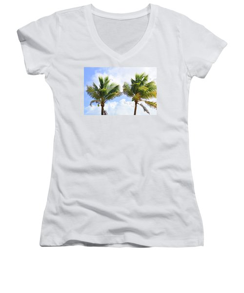 Where The Coconuts Grow Women's V-Neck (Athletic Fit)