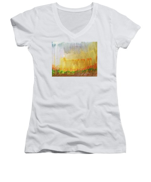 Where The Tall Grass Grows Women's V-Neck (Athletic Fit)