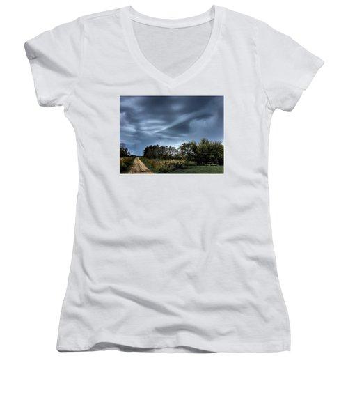 Whirrelll Women's V-Neck T-Shirt