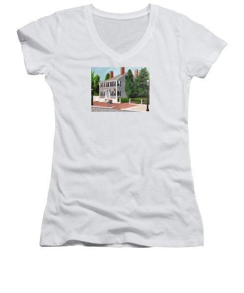 Whistler House Women's V-Neck T-Shirt (Junior Cut) by Cynthia Morgan
