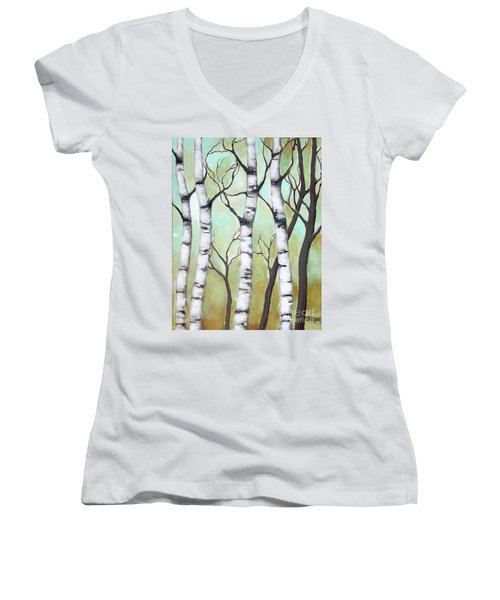 White Birch Women's V-Neck
