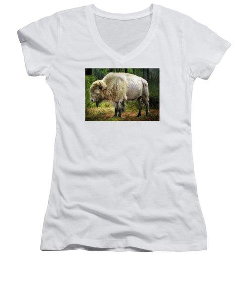 White Cloud Women's V-Neck T-Shirt