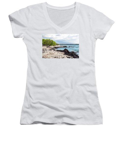 White Coral Coast Women's V-Neck