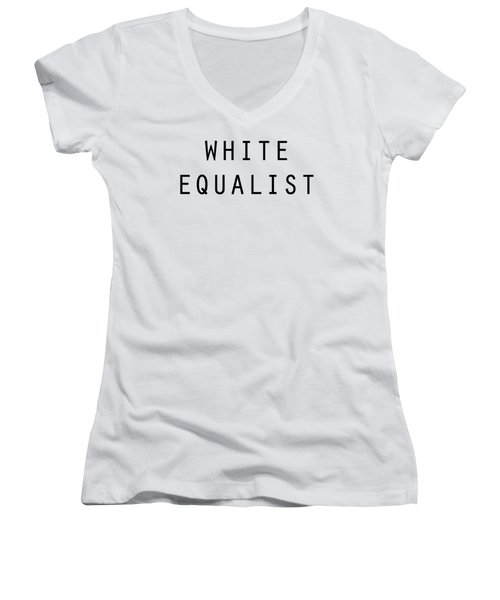White Equalist Women's V-Neck