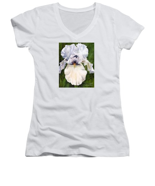 White Iris Women's V-Neck