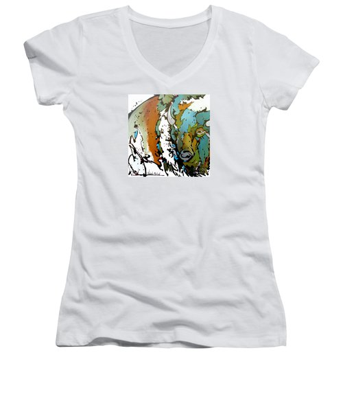 White Lightning Women's V-Neck T-Shirt