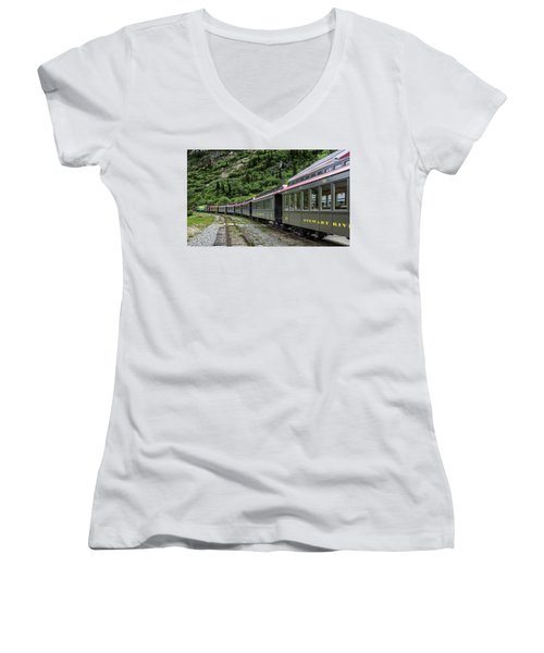 White Pass And Yukon Railway Women's V-Neck (Athletic Fit)